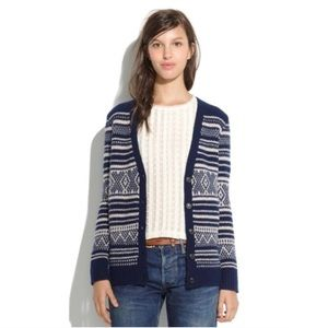 Madewell • Stitchstripe Merino Wool Cardigan